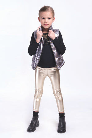 Imoga Alvin Metallic Legging- Gold