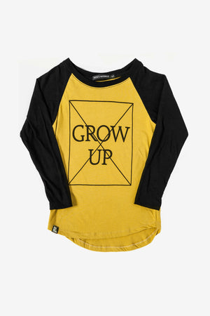 Mini & Maximus Don't Grow Up Raglan T-Shirt
