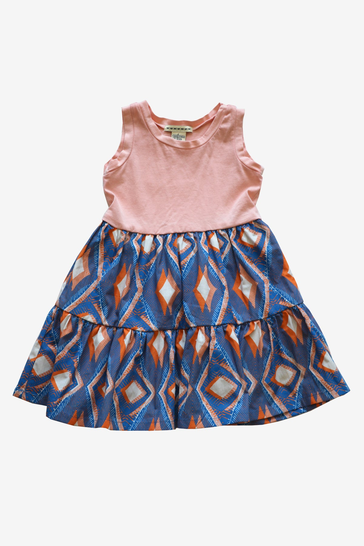 Anthem of the Ants Hopscotch Dress - Papaya