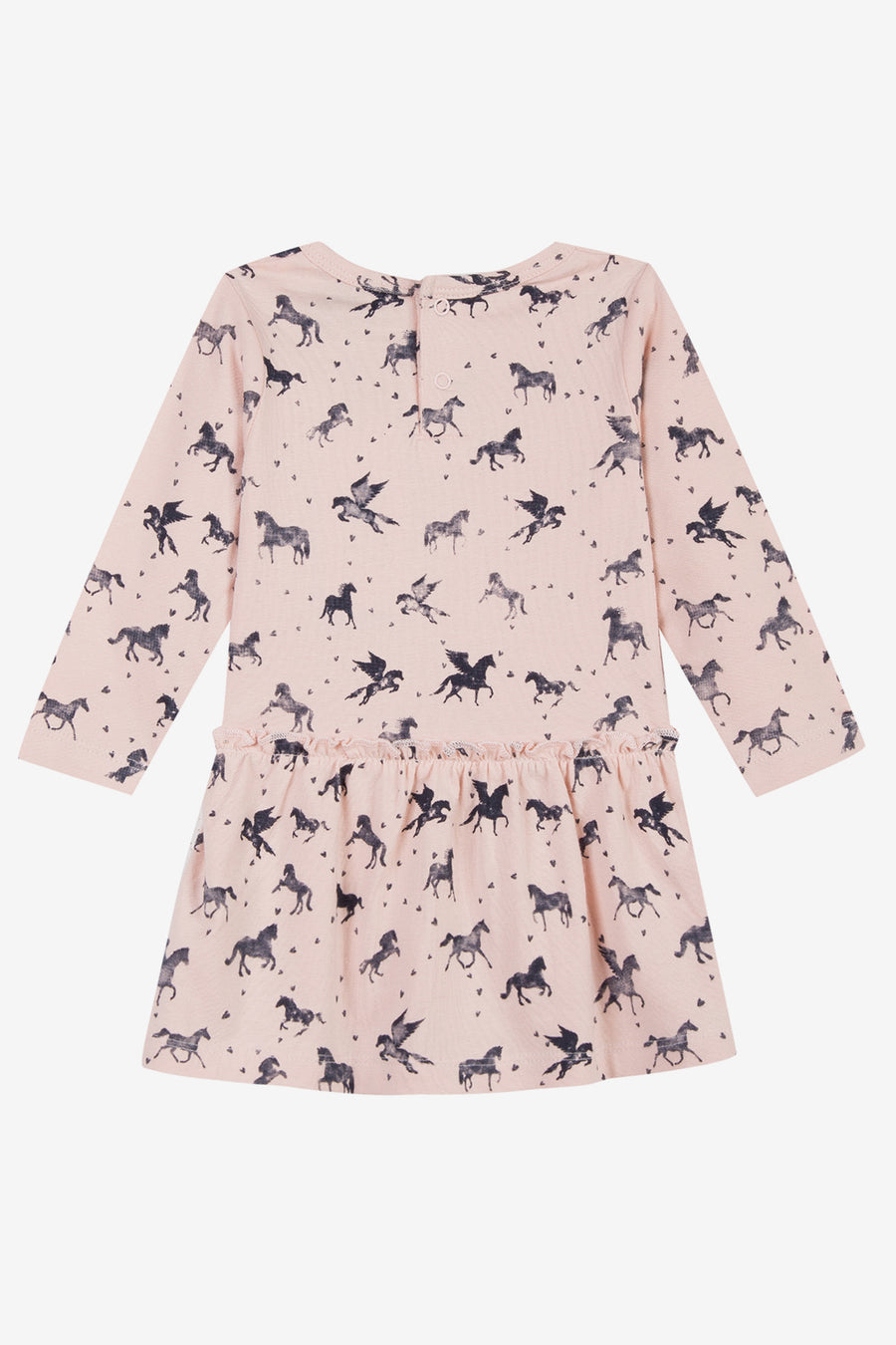 3pommes Pink Horse Print Dress