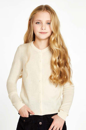 Autumn Cashmere Girls Cardigan - Ivory