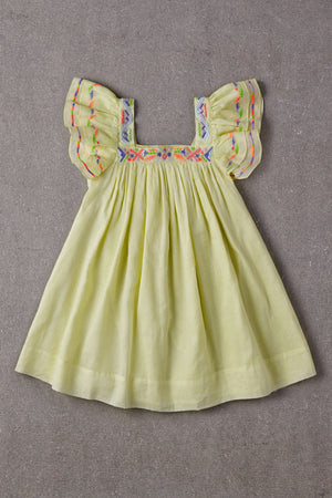 Nellystella Chloe Baby Girls Dress - Lemon Sour