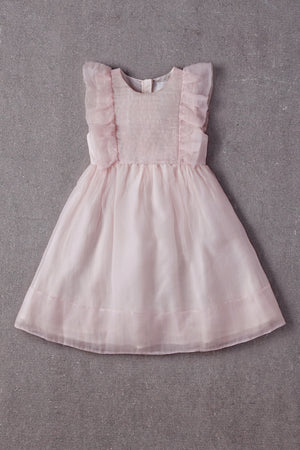Nellystella Mae Silk Dress - Petal Pink
