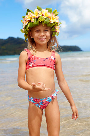 Roxy Mermaid Athletics Suit - Floral