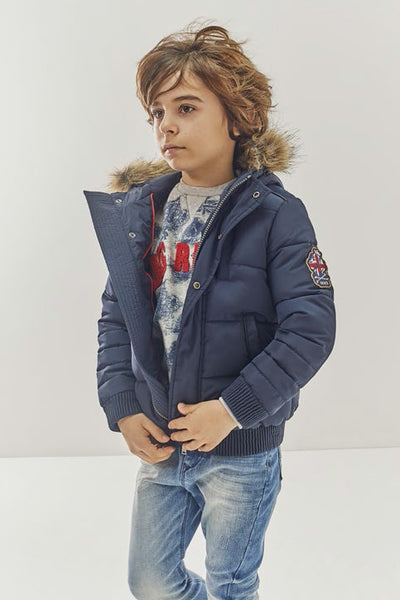 IKKS Navy Puffy Jacket