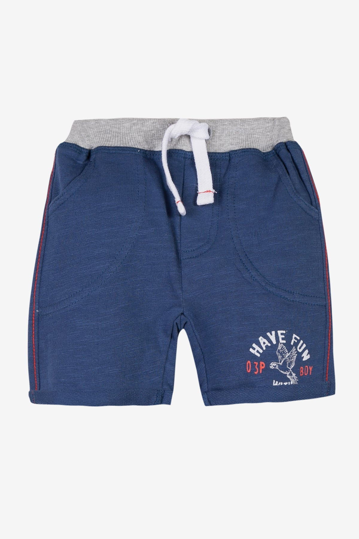 f54bfd19ba 3pommes Baby Boy Navy Blue Shorts