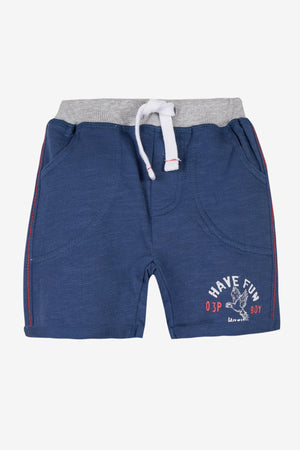 3pommes Baby Boy Navy Blue Shorts