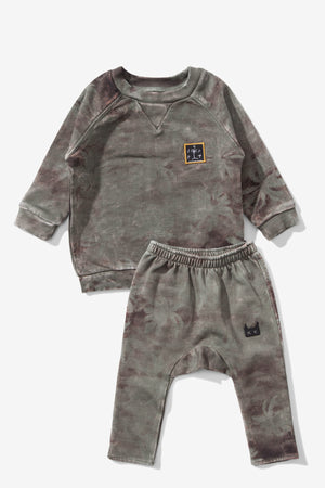 Munster Kids Palm Beach Baby 2-piece Set - Olive
