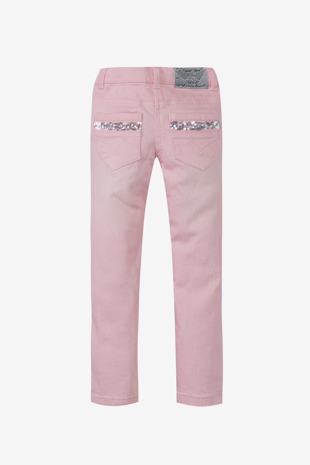 3pommes Pink Sequin Girls Jeans