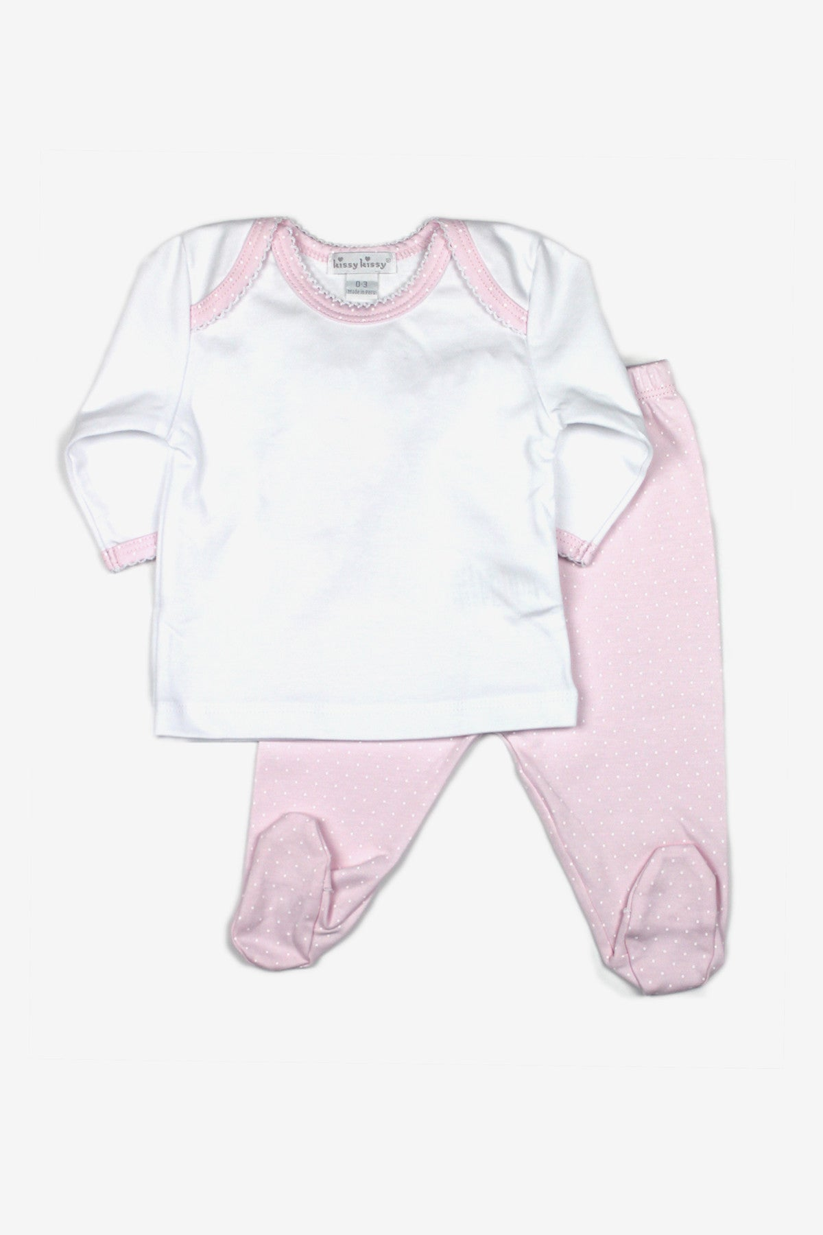Pink Footed Pants Set