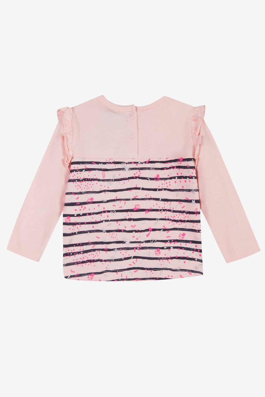 3pommes Baby Girl Striped Tee