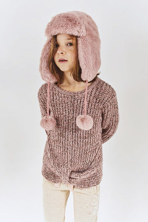 IKKS Pink Sparkly Girls Sweater