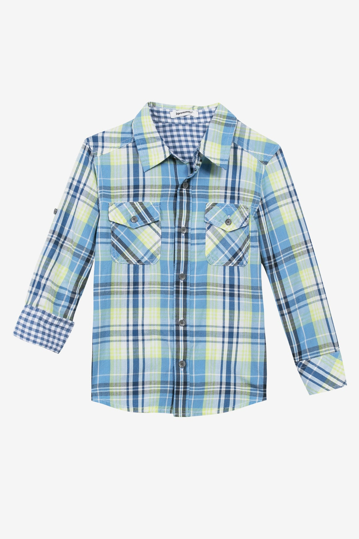 3pommes Checkered Button-down Boys Shirt
