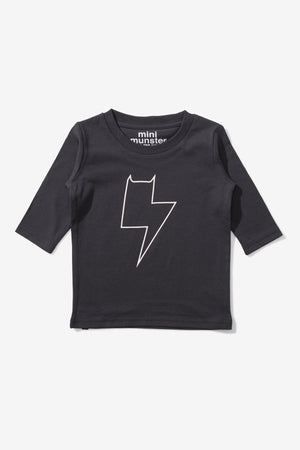 Munster Kids Plugged In Tee - Black
