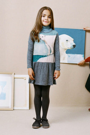Nice Things Mini Polar Bear Dress (Size 4 left)