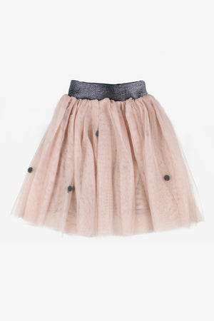 Flora Pompom Tutu Girls Skirt