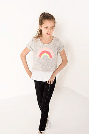 IKKS Rainbow 2-in-1 Girls Shirt (Size 6 left)