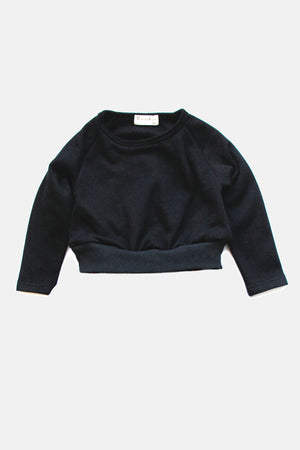 Vierra Rose Riley Crop Girls Sweatshirt - Black
