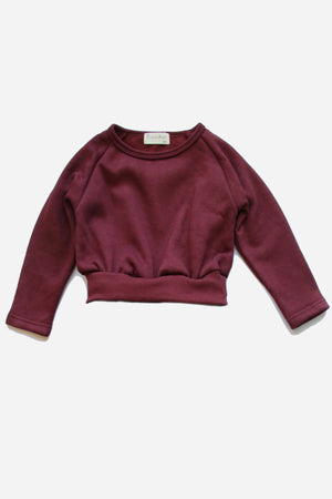 Vierra Rose Riley Crop Sweatshirt - Rust (Size 6 left)