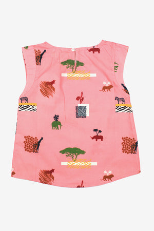 Nice Things Mini Savannah Girls Top