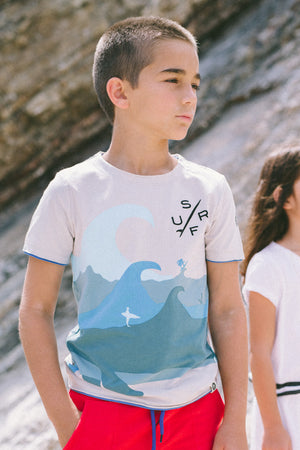 Mini Shatsu Shark Whale T-Shirt