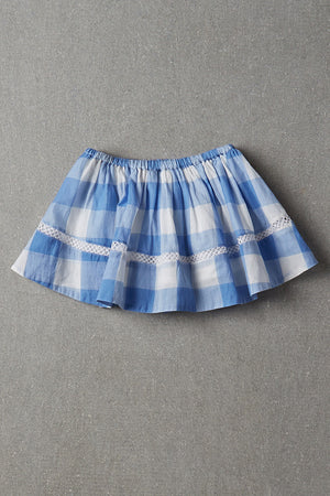 Nellystella Sonia Skirt - Blue Plaid