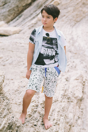 Mini Shatsu Vintage Splatter Shorts