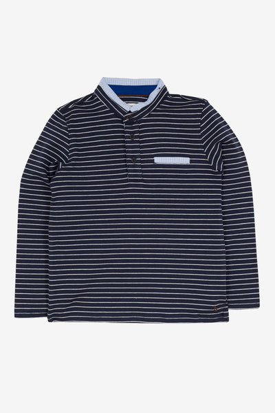 Jean Bourget Boys Striped Polo Shirt