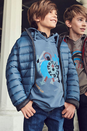 Eddie Pen Alaska Rev Boys Jacket - Night Blue
