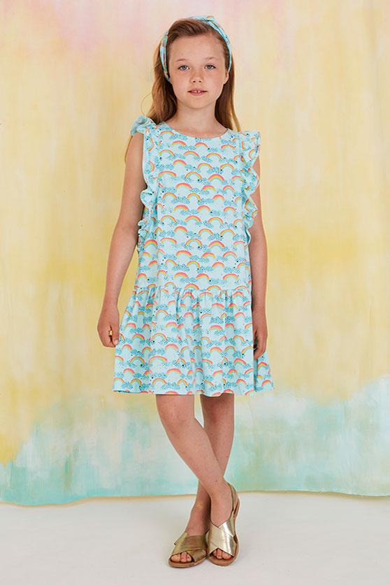 Soft Gallery Alberte Rainbow Girls Dress