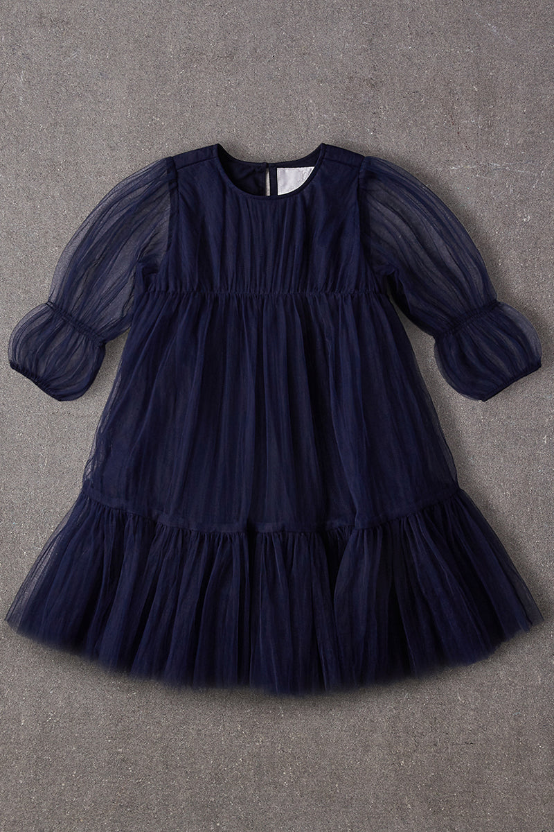 Nellystella Alice Girls Dress - Navy