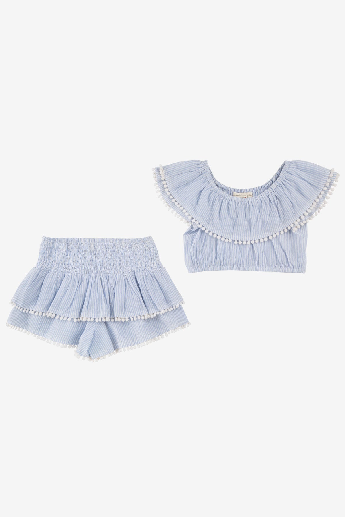 Mimi & Maggie Allie Ruffle Crop Top And Tiered Skort
