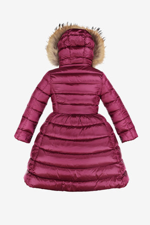 ADD Down Satin Hooded Down Coat - Anemone