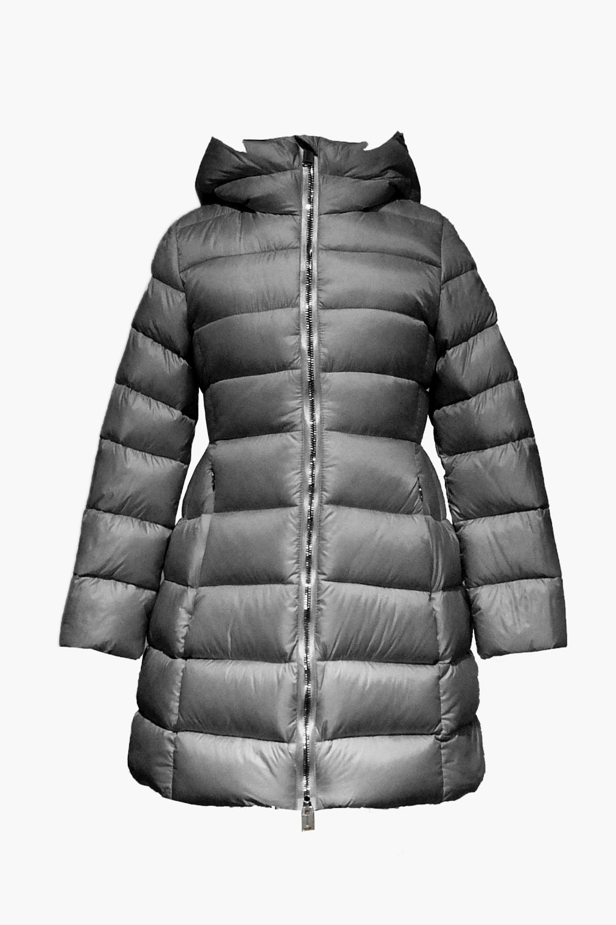 ADD Down Hooded Down Girls Coat - Asphalt