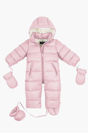 Eddie Pen Mellow Down Baby Suit - Pink