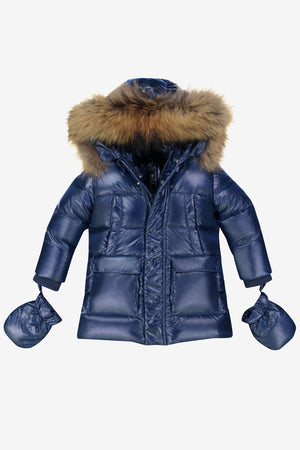 ADD Down Baby Parka - Cobalt