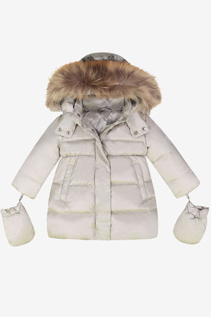 873e555e6 ADD Down Baby Girls Coat - Snow Grey - Mini Ruby