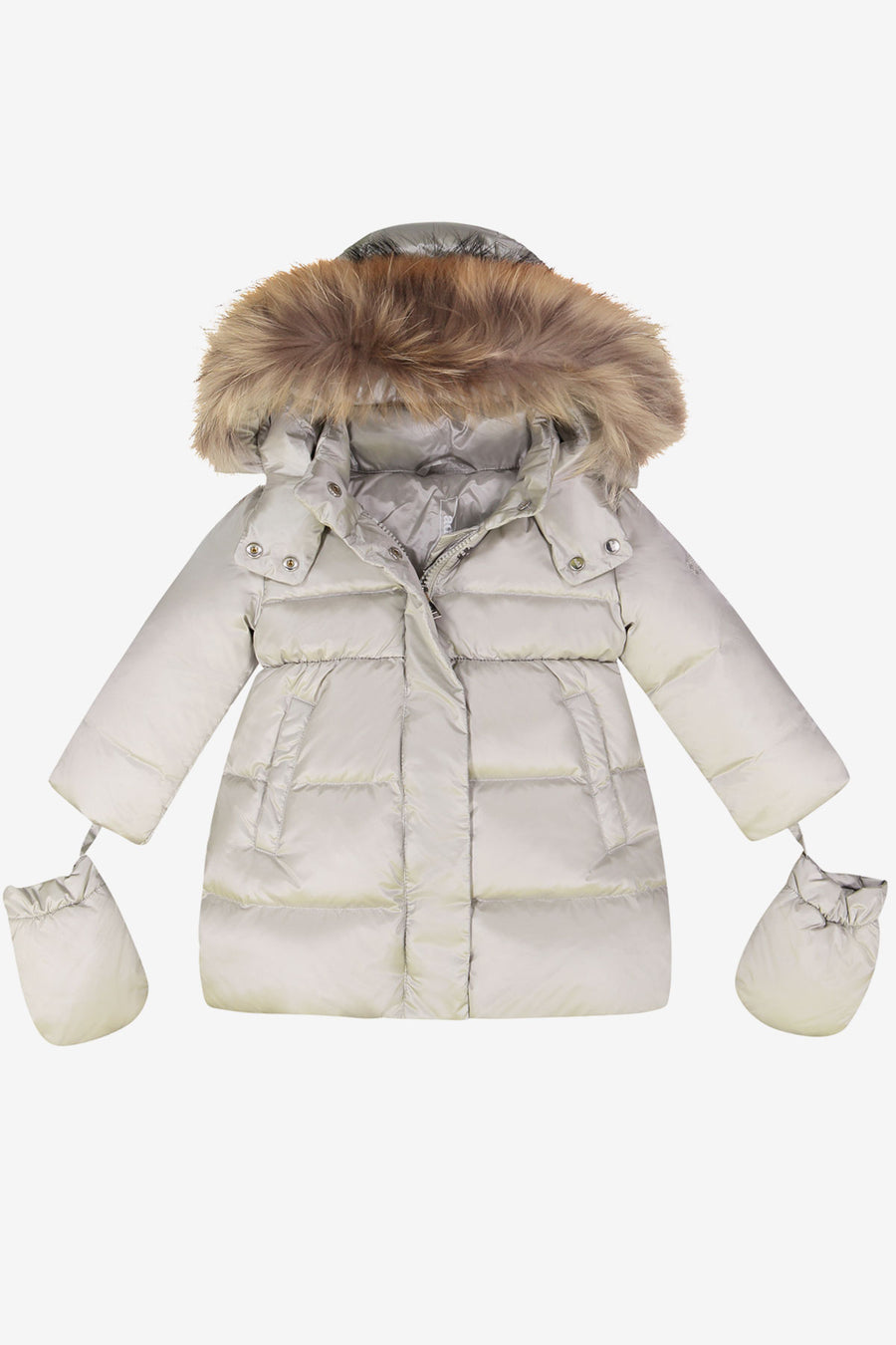 ADD Down Baby Girls Coat - Snow Grey