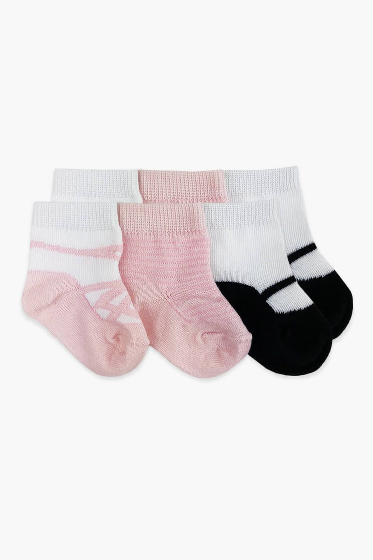 Jefferies Socks Ballet Slipper Baby Socks 3-Pack