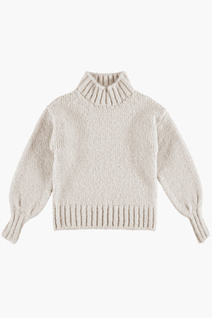 Tocoto Vintage Turtleneck Girls Sweater - Beige