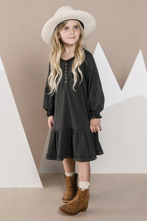 Rylee + Cru Thermal Waffle Knit Dress