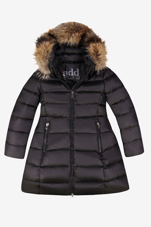 ADD Down Hooded Down Coat - Black (Size 4 left)