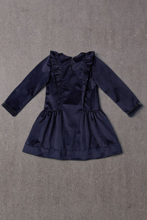 Nellystella Blanca Dress - Navy Velvet