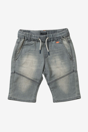 IKKS Bleached Grey Denim Shorts