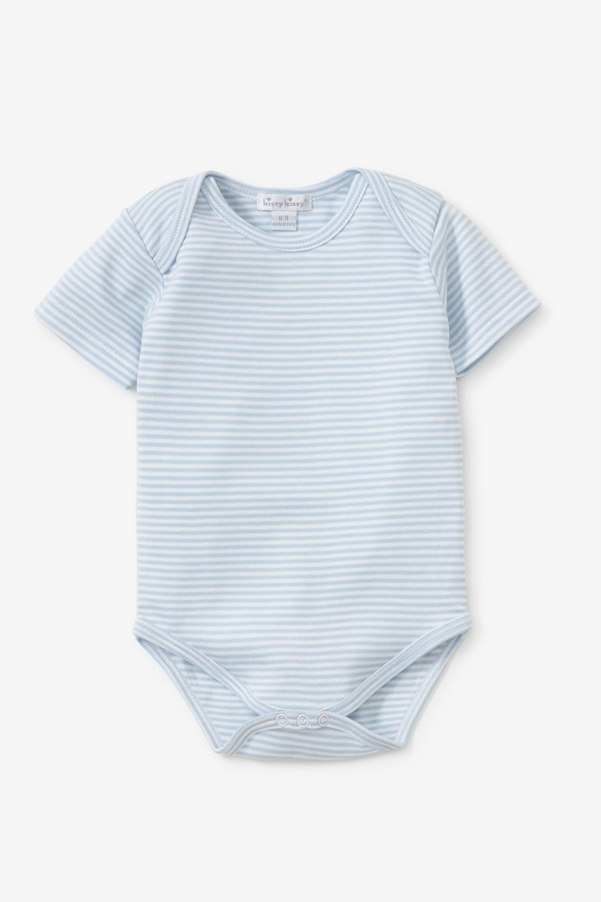 Kissy Kissy Blue Striped Basic Bodysuit