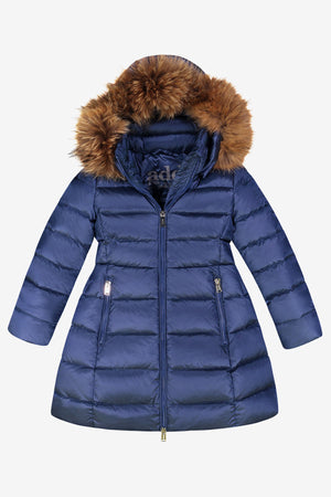 ADD Down Hooded Down Coat - Cobalt