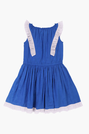 Billieblush Royal Blue Flutter Girls Dress