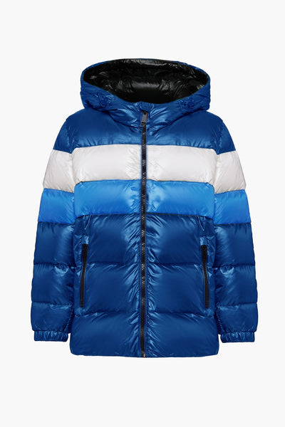 ADD Down Boys Racer Jacket - Blue
