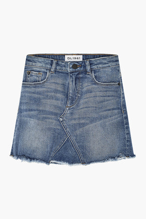 DL1961 Jenny Girls Jean Skirt - Blue Rose
