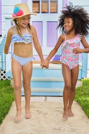 Snapper Rock Rainbow Connection Girls Swimsuit